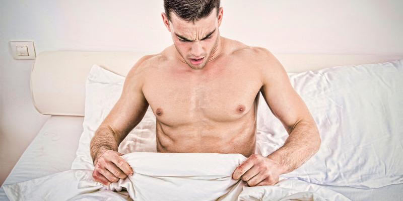 tiszta eresztés a férfiak erekciója során